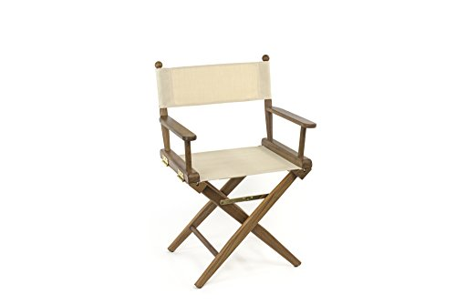 Whitecap Teak Director'sChair with Natural Seat Covers