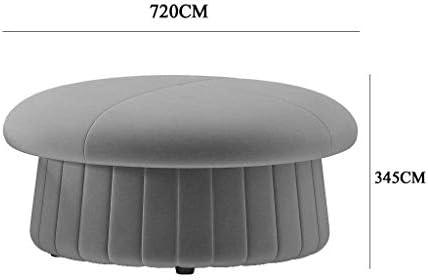 WZF Starke und langlebige Qualität Niedriger Hocker Fußhocker Tragbarer Make-up Waschtischhocker Sofa Picknicksitz Vielseitig Platzsparende WürfelMax. Zuladung 150 kg Gelb