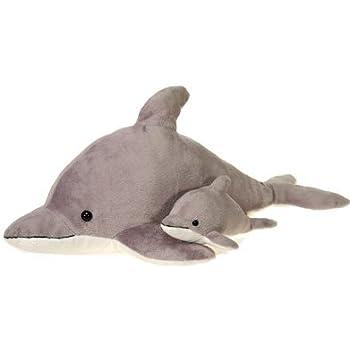 Amazon.com: Gray Dolphin Plush Stuffed Animal Toy by