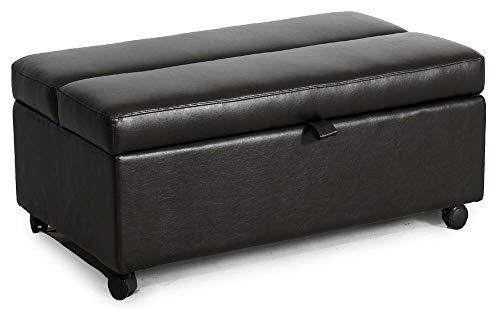 Miraculous Amazon Com Sunset Trading Bonded Leather Sleeper Ottoman Lamtechconsult Wood Chair Design Ideas Lamtechconsultcom