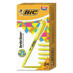 Brite Liner Highlighter, Chisel Tip, Yellow, 24/Pack]()