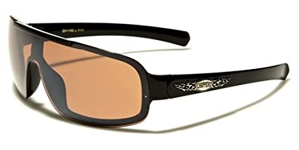 Choppers New 2014 Mens Large Biker Motorcycle Aviator Shield Glasses-CH1493