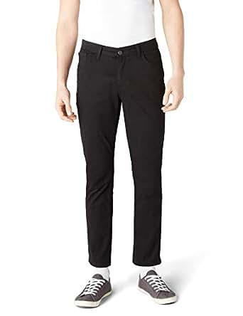 DeFacto Erkek Bruno Gabardin Slim Fit Pantolon, Siyah, 28 Beden