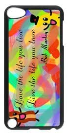 Abstract Design Love the Life You Live DIY Hard Shell Black ipod touch 5 Case Perfect By Custom Service