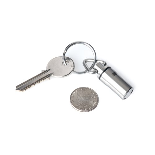 GUS Mini Pill Fob, Made in USA, Stainless Steel Keychain Pill Holder, Emergency Aspirin Holder, Compact Design by GUS Made (Image #2)