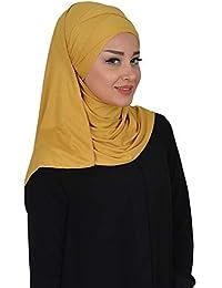 Jersey Hijab Shawl for Women Cotton Scarf Head Wrap Instant Muslim Turban Cap
