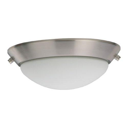 Quorum International 1504-865 Energy Efficient 2 Light  CFL Ceiling Fan  Light  Kit, Satin Nickel Finish with Satin Opal Glass