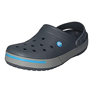 Crocs Men's Crocband II Clog,Charcoal/Light Grey,13 M US