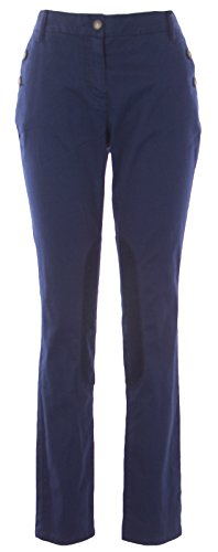 BODEN Women's Stretch Canvas Trousers US Sz 14L Navy Boden Trousers