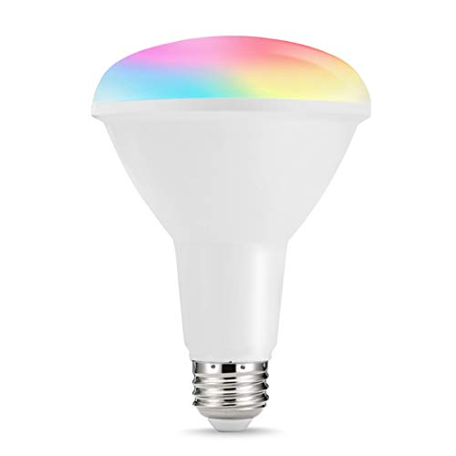 LOHAS Smart BR30 LED Bulb, Wi-Fi Control Light, Multicolored RGB LED Flood Light, 80W Equivalent, E26 Medium Base, Voice Remote Control Smart Home Lighting, Compatible with Alexa and Google Assistant