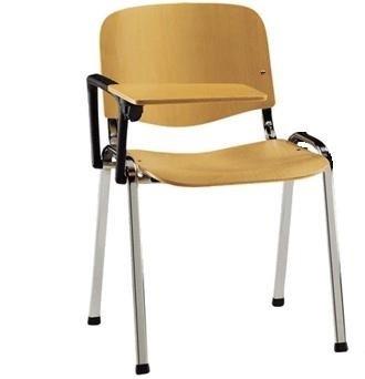 KARISMA - ISO LEGNO C + d2 + tav. LEGNO, Sedia In Legno Ufficio / Scuola / Corsi Più Tavoletta Ribaltina Scrittoio Eurotekna