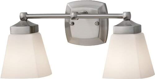- Murray Feiss VS19902-BS Delaney Wall Vanity Lighting, 2, Brushed Steel