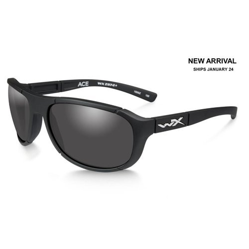 Wiley X ACACE01 Ace Sunglasses Grey Lens Matt Frame, Black