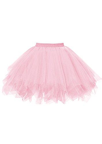 malishow Womens Short Tutu Costume Tulle Skirt Dance Multi-Colored Party Petticoat