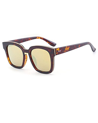 Konalla Vintage Colorful Frame Tinted Flat Top Anti-UV Sunglasses Unisex - Ray Band Wayfarer