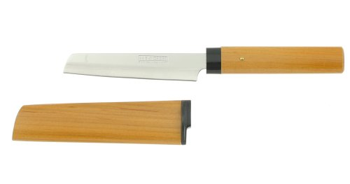 Kotobuki Cheese Knife with Wood Cover, Brown by Kotobuki