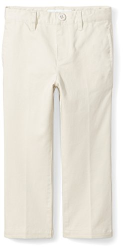 Amazon Essentials Toddler Boys' Straight Leg Flat Front Uniform Chino Pant, Light Khaki , 2T