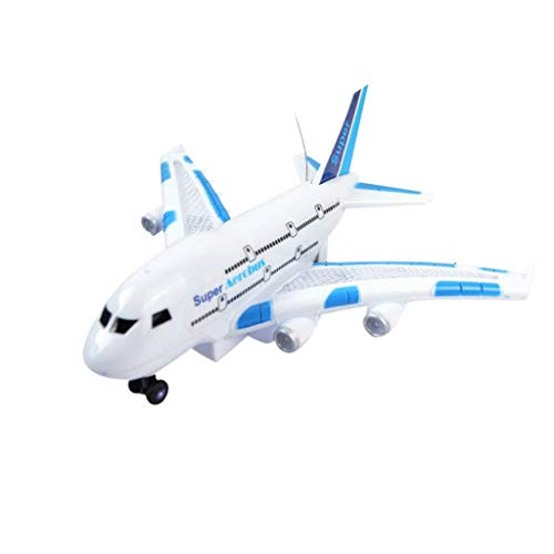 - Kanzd LED Indoor Remote Control Flying Airplane 2.4Ghz 2WD RC Airplane Aircraft Toys (A)