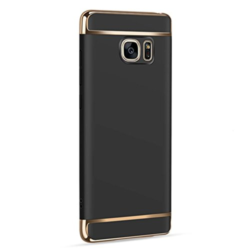 Price comparison product image Feite Thin Electroplate Hard Case Cover for Samsung Galaxy Note 5 (Black, for Samsung Galaxy Note 5)