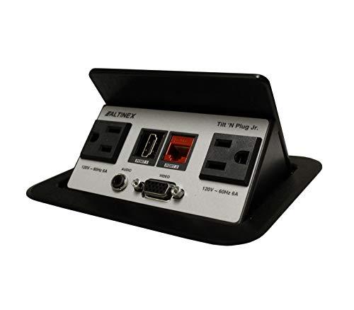 (TNP328 Tilt 'n Plug Tabletop Interconnect Box (HDMI, VGA, Audio, Network, 2 Power))