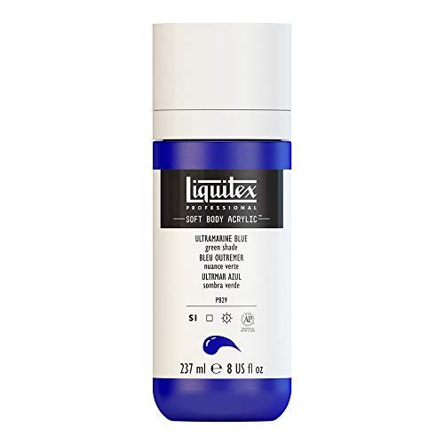 (Liquitex Professional Soft Body Acrylic Paint 8-oz bottle, Ultramarine Blue (Green Shade))