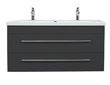 Waschbecken rechteckig mit unterschrank  Emotion 2NDFLOOR120CMDOPPEL000104DE Waschbecken mit Unterschrank ...