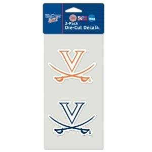 WinCraft NCAA University of Virginia Perfect Cut Decal (Set of 2), 4