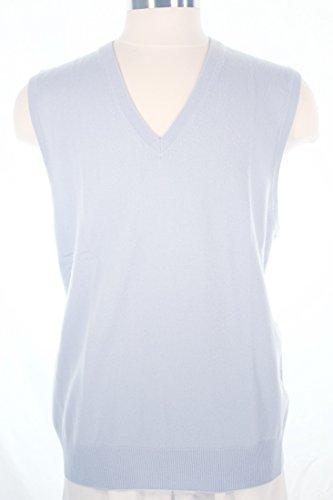 Shephe Men's Cashmere Pullover Vest Sky Blue ()