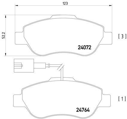Disc Brake Pagid T1832 Brake Pad Set