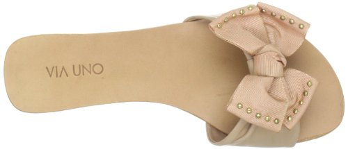 Via Uno Leather, Women's Sandals Beige (Duna)