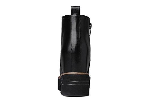 Youxuan Women's Winter Walking Short Booties Slip Resistant Girls Platform Flats Snow Boots Black 5.5M US by Youxuan (Image #5)