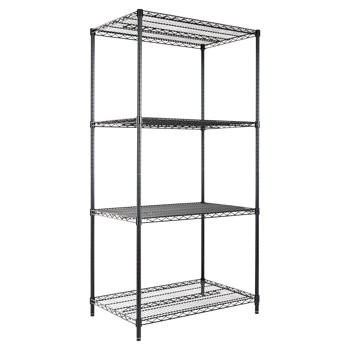 (Alera 4-Shelf Wire Shelving Rack | 36