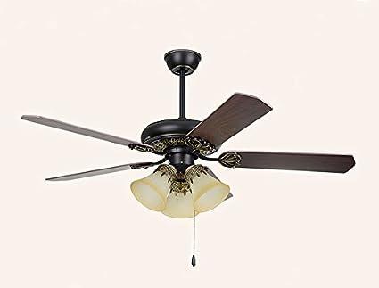Salón ventilador lámpara lámpara dormitorio con techo ventilador ...