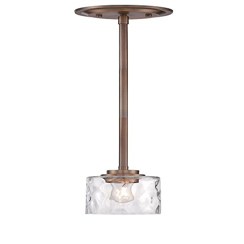 Hammered Brass Pendant Light in US - 7
