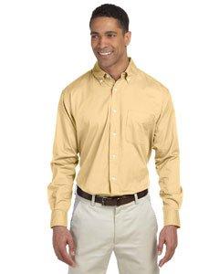 Chestnut Hill Men's 32 Singles Long Sleeve Twill Pleat Shirt, white, XX-Large