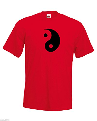 Rouge Avec shirt Taoïsme Gratuit philosophy Symbole Yoga Yang Décalque Daoism Modèle Yin Hommes Le Cadeau Éthique Et T TvqSxxw
