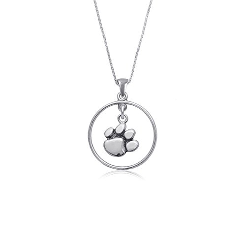 Clemson University Tigers Sterling Silver Jewelry by Dayna Designs (Open Drop Necklace) (Silver Sterling Clemson Tigers Charm)