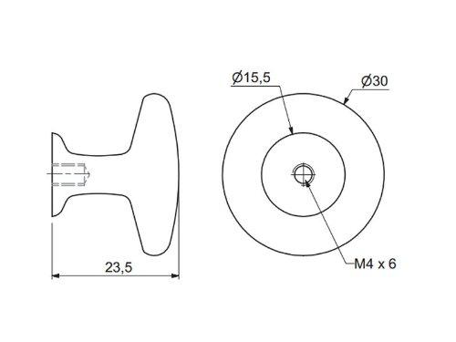 SO-TECH/® K-02 M/öbelgriff M/öbelknopf M/öbelknauf Chrom poliert /Ø 30 mm