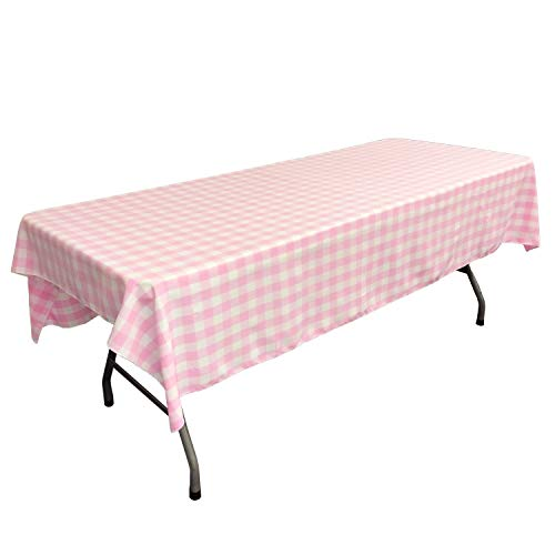 lovemyfabric Gingham/Checkered 100% Polyester Restaurant Style for Picnic, Party, Dinner, Country Style Evants Tablecloth/Overlay (58