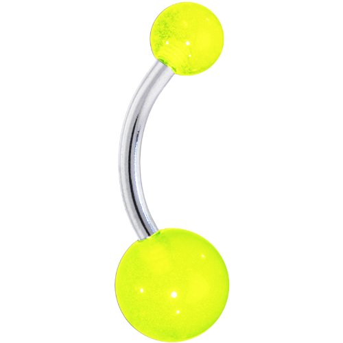 Neon Green Belly Button Ring
