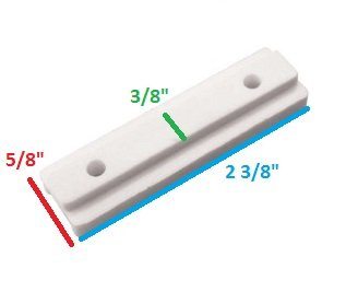 Bimini White Nylon Track Slide, 4 pack