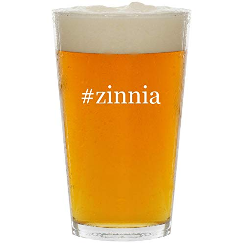 #zinnia - Glass Hashtag 16oz Beer Pint