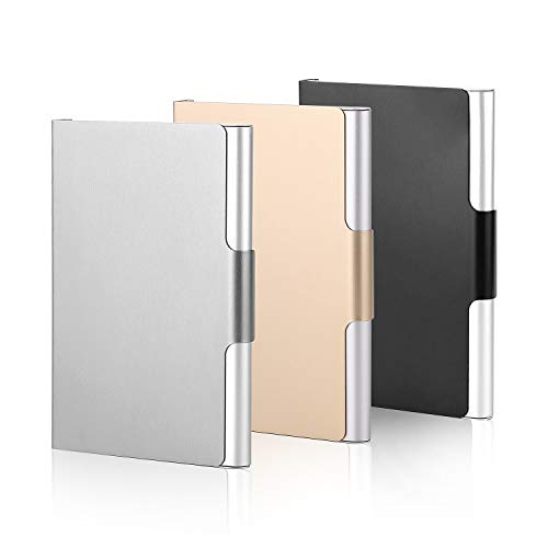 (Aluminum Business Card Case Slim Business Card Holder Name Card Cases, Hold 20 Business Cards, 3 Pack)