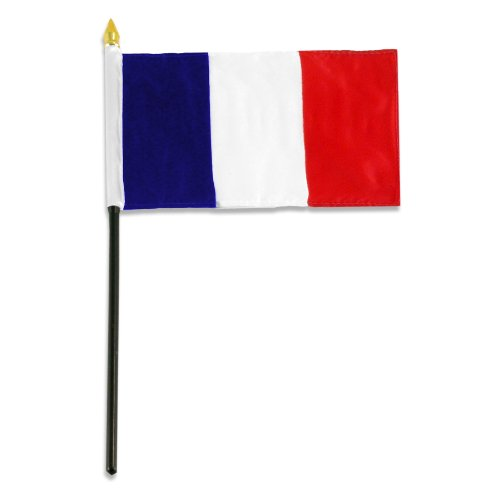 US Flag Store France Flag, 4 by 6-Inch