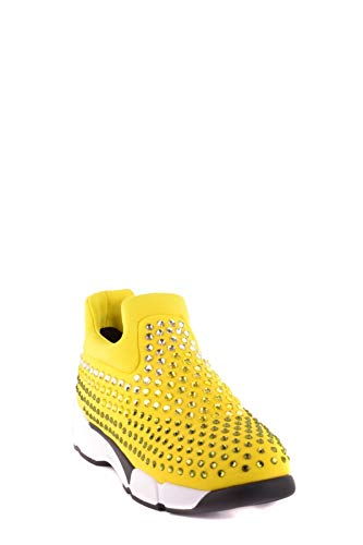 Donna Sneakers Giallo Tessuto On Pinko Mcbi29837 Slip EUBct