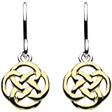 Heritage Sterling Silver Celtic Small Knot Drop Earrings