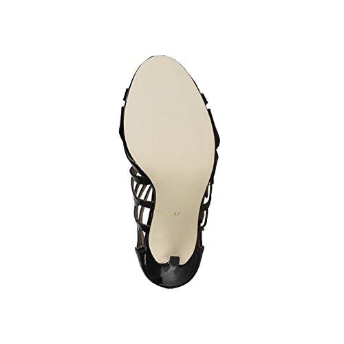 V 1969 - MORGANE_NERO Sandalias De Vestir De Encaje Para Mujer Tacón: 11 cm
