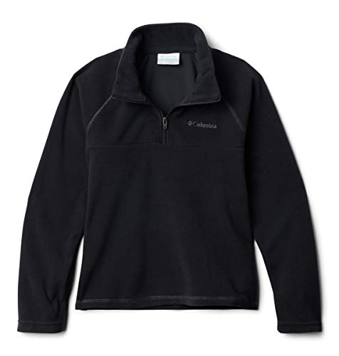 Columbia Little Boys' Glacial Half Zip Fleece Jacket, Black, XX-Small