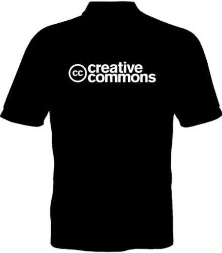 Fruit of the Loom Polo-Shirt - Creative Commons Schriftzug