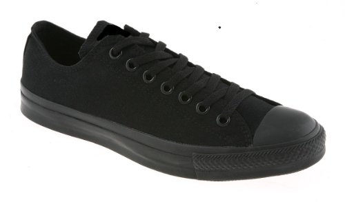 Canvas Trainers Low Top Baseball Gym Pumps Plimsolls Lace Up Sneakers Black ZuXZOUl3s